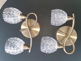 Metal Wall lights - selling as a pair