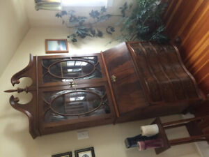 Antique Hutch with drop leaf for desk