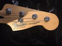 Fender precision bass made in Mexico with case