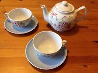 NEW kath kidson teapot and teacup tea set