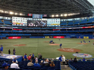 Blue Jays vs Astros series-100 level seats behind home, 50% off