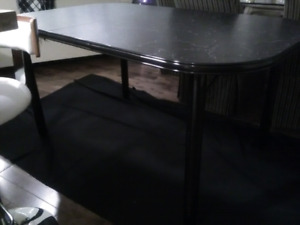 Kitchen table with extension.