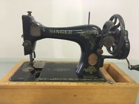 Vintage Singer Hand Crank Sewing Machine