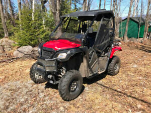 2015 Honda Pioneer 500 Side by Side with trailer