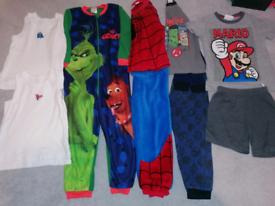 Bundle of boys Pyjamas 4-5 & 5-6 Years