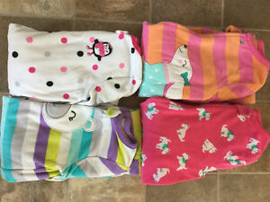 4 carters footed Jammie's