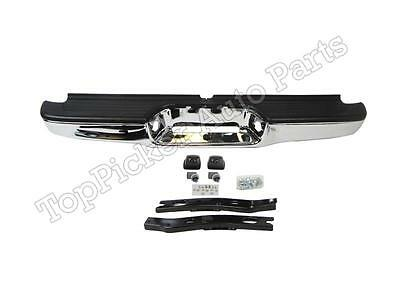 For 95-04 Tacoma Rear Step Bumper Chrome Assy With Bracket & Pad (Oem Type)