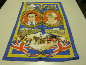 NEW Vintage Linen Tea Towel/Princess Lady Diana & Charles Royal