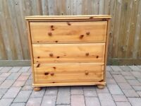 Chest of draws - solid pine