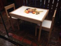 Noddy 2 toned children's table and chair set