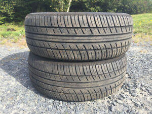 Two 205/55R16 Summer Tires Great Tread