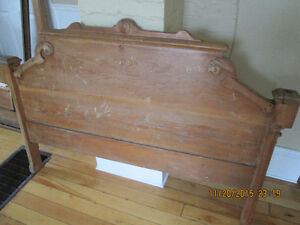 Beautiful Antique Pine Headboard, double size