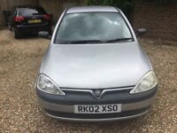 Vauxhall corsa GLS 1ltr 5 door silver 2002 px trade clearance please read add