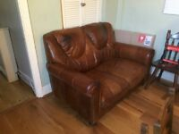FREE DFS 2 SEATER LEATHER SOFA