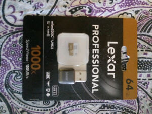 Brand new in package 64gb 1000x Lexar Pro micro SD
