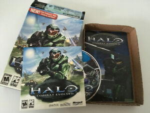 Microsoft Halo Combat Evolved PC CD and Box for Sale