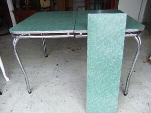 1950's green and white formica dining table
