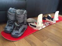 Snowboard, Bindings & Boots