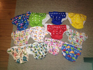 Pocket insert diapers