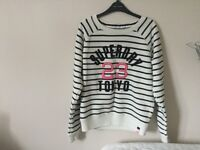 Superdrug Striped sweatshirt size medium