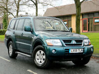 2005 55 MITSUBISHI SHOGUN 3.2 DI-D FIELD AUTO 5DR WITH FSH+FULL LEATHER+ALLOYS