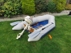 PlastimoTender inflatable boat with outboard