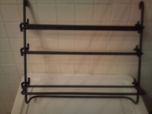 Wrought Iron Organizer for Kitchen for Foil, Cling Wrap etc