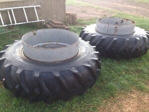 18.4-34 tires on dual rims