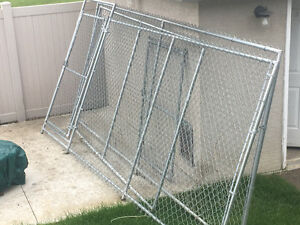 3 pieces of chain link fencing.