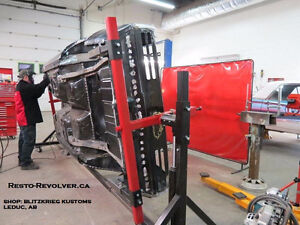 Classic Car Rotisserie and Body Carts. Made in Canada!