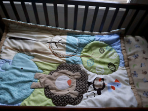 Baby crib with Matress and bedsets for sale