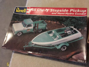Revell 65 Chevy boat and trailer model