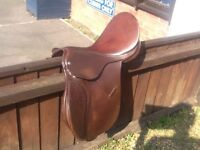 Brown English leather saddle