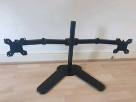 Fully adjustable dual monitor stand