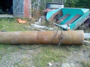 round fibreglass fuel tank.109 inches long , 17 inches wide.