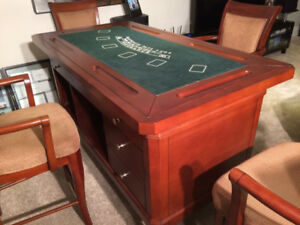 Games Table and Bar with 4 bar stools