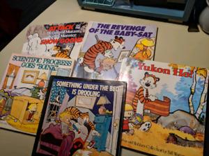 Livres bande dessinee Calvin & Hobbes en anglais