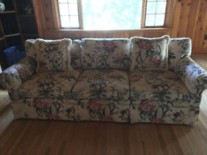 2 beautiful floral couches. Must go. 100