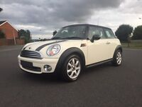 WHITE MINI COOPER 1.6 NEW MODEL WITH WARRABTY