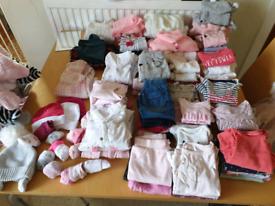 Big bundle baby girl clothes newborn + 0-3 everything you need.