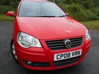 2008 08 VOLKSWAGEN POLO 1.4 MATCH 3D AUTO 79 BHP ** 1 PREVIOUS OWNER , YES ONLY