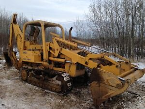 1982 JOHN DEERE 350C CRAWLER LOADER, C/W BACKHOE ATTACHMENT