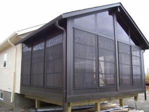 Exclusive Vinyl Track Window Systems and Sunrooms for Less