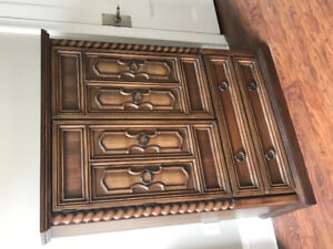 Armoire, dresser, and bedside table
