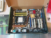 Asus M2N-E mother board & 4 gigs of Kingston DDR2 800 MHz
