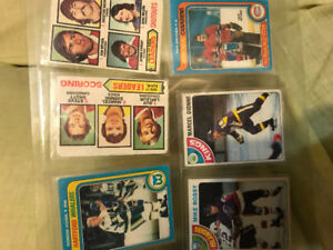 6 1970's Hockey Cards Geordie Howe Mike Bossey Rookie guy laflur