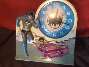 Batman & Robin Talking Alarm Clock Janex Corp 1974 (Not Working)