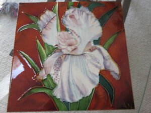 Stunning Cattleya Orchid Hand Painted Large Tile 12  x 12""