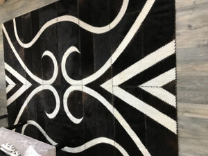 Beautiful High Quality Cowhide Hand Stitched Rug