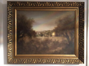 """Vintage Oil Painting by Granisky @Age 80 in Israel: """"The Vision"""""""